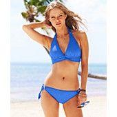 Anne Cole Halter Twist-Front Bikini Top & Side-Tie Bikini Bottom