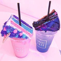 MMM looks so good Yummy Snacks, Yummy Drinks, Yummy Treats, Delicious Desserts, Sweet Treats, Yummy Food, Cute Food, I Love Food, Colorful Drinks