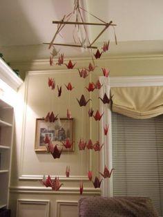 like the idea of origami mobiles