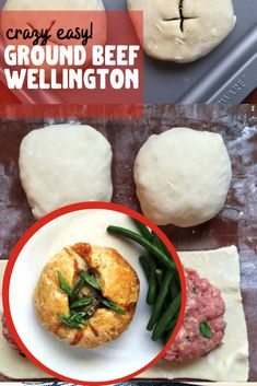 This beef wellington recipe isn't hard or expensive. This easy version is made with ground beef and puff pastry and makes a fantastic dinner! Ground Beef Wellington, Beef Wellington Recipe, Wellington Food, Ground Beef Recipes Easy, Beef Recipes For Dinner, Meat Recipes, Cooking Recipes, Pastry Recipes, Recipies