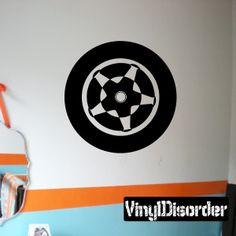 Tire Rim Wall Decal - Vinyl Decal - Car Decal - DC021