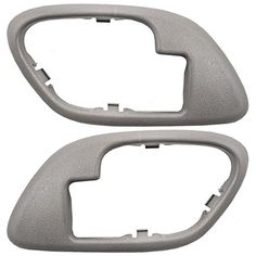 Pair Set Inside Inner Gray Door Handle Trim Bezels Replacement for Cadillac SUV Chevrolet GMC Pickup Truck 15708079 15708080. For product info go to:  https://www.caraccessoriesonlinemarket.com/pair-set-inside-inner-gray-door-handle-trim-bezels-replacement-for-cadillac-suv-chevrolet-gmc-pickup-truck-15708079-15708080/
