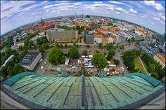 HANNOVER Planet Hannover | Blick von oben auf die Stadt. Birdsview over Hanover in Germany.