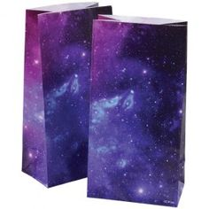 """Space+Paper+Bags+-+Give+away+goody+bags+that+are+""""out+of+this+world""""+with+these+space-themed+paper+bags.+Beautifully+decorated+with+a+image+of+our+starry+universe,+your+guests+will+leave+your+party+feeling+like+they+are+taking+a+piece+of+the+nighttime+sky+with+them.++Perfectly-sized+to+fill+with+candy+or+other+small+party+favors,+they+are+the+ideal+treat+for+any+themed+event!+-+$2.49"""