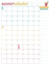 Summer Calendar Printable - Make a blank calendar page and write in appointments etc.