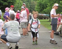 Volunteers and staff from Leesylvania State Park help to raise funds for the National Breast Cancer Foundation on Saturday August 9, 2014. Find out how you can help - http://www.virginiaoutdoors.com/article/more/5124