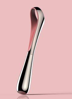 LAINEGE Finger Graphic Liner designed by BKID #Cosmetic #Finger #Liner #LAINEGE #Product #BKID #BKIDSTUDIO #송봉규 #bongkyusong Toothbrush Storage, Industrial Design Sketch, Form Design, Organic Form, Minimal Design, Design Reference, Packaging Design, Perfume, Cool Designs