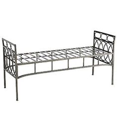 End of the bed bench. What I like most about this one is the fact that it's long enough for a Queen size bed and it's relatively cheap, despite having to buy the cushion separately. Might even make a cushion. Might even spraypaint the bench a silver color.