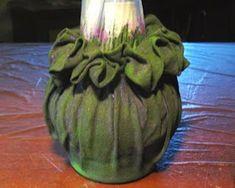 Ideas Hogar...: DIY Técnica para decorar botellas con Tela Color Mate, Ideas Hogar, Artichoke, Watermelon, Fruit, Vegetables, Diy, Creative, Food