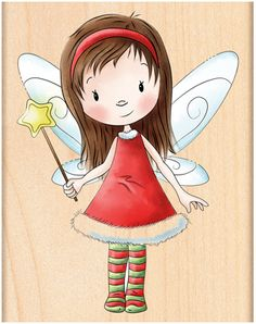 Fairy Wishes - Rubber Stamp