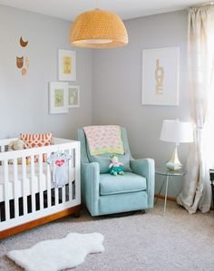 Love the grey walls and calming colours