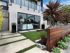 déco de mur de jardin extérieur minimaliste