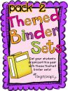 Themed Classroom Organizational Binder Pack 2 product from Ginger-Snaps on TeachersNotebook.com