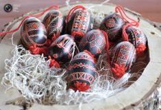 Decorated Easter eggs are displayed in Adlesici , north Slovenia. The various patterns used for decorating the eggs reflect different regions of the country and is a centuries-old Slovenian Easter tradition. Egg Photo, Coloring Easter Eggs, Egg Coloring, Easter Traditions, Egg Decorating, My Heritage, Old World, Around The Worlds, Homeland