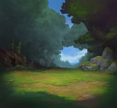 Combat background art and a few variations for Battle Chasers: Night War, ©Airship Syndicate. Scenery Background, Forest Background, Background Drawing, Landscape Background, Cartoon Background, Animation Background, Landscape Concept, Fantasy Landscape, Landscape Art