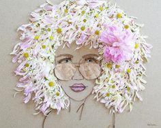 "Sister Golden | ""Beach Babe"" Flower Face Print"