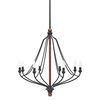 Shop Kichler Lighting Carlotta 27.01-in 8-Light Distressed Black and Wood Williamsburg Candle Chandelier at Lowes.com