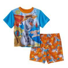 "Disney's Frozen ""Chillin' In The Sunshine"" Olaf Pajama Set - Toddler Boy"
