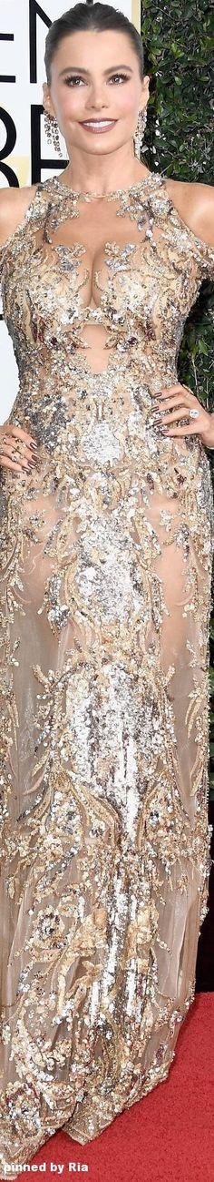 Sofia Vergara in Zurhair Murad Couture l The 2017 Golden Globe Awards l Ria