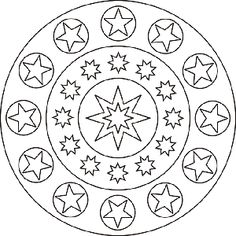 Mandala - Sterne Diy Coloring Books, Cat Coloring Page, Cool Coloring Pages, Mandala Coloring Pages, July 4th, Origami, Decorative Plates, Clip Art, Abstract