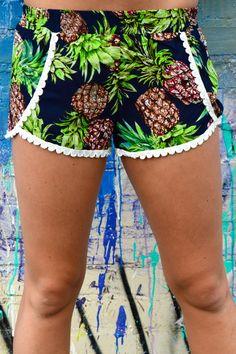 Savannah Pineapple Shorts from Shop Southern Roots TX
