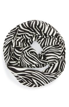 Tiger striped infinity scarf.
