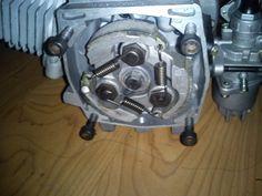 Construcción de una moto de 49 cc, con partes de bicicleta - Página 2 - Asi luce l embrague centrifugo sin la campana.