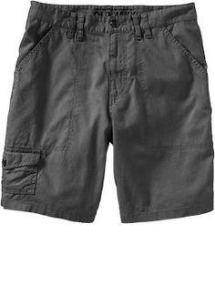 """Men's Linen-Blend Camp Shorts (9"""")   Old Navy"""