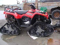 "ATV tracks ""Apache"" brand, In Alaska"