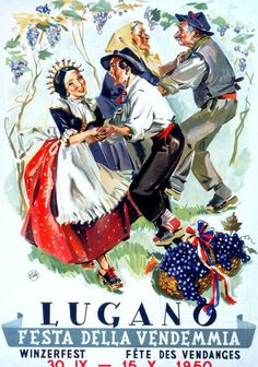 Festa della vendemmia - Winzerfest - fête des vendanges | Lugano | Ticino - Tessin | 1950