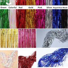 3Ftx8Ft Metallic Tinsel Foil Fringe Curtain Backdrops Door Curtain/Party Decor