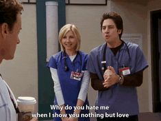 "When I'm careful with my body but it's still in agony disabilityhealth: "" [Gif of JD from Scrubs saying, ""Why do you hate me when I show you nothing but love? Best Tv Shows, Best Shows Ever, Favorite Tv Shows, Favorite Things, Nina Simone, Abc Family, The Cw, Scrubs Quotes, Dr Cox"