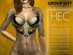 HEC Group Gift Halloween Tintable Top Wear the (still free) HEC group, scroll the gifts-vendor if needed, right-click on the picture & select Deliver! Unlimited [...]