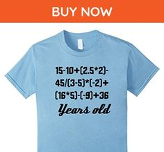 Kids 90 Years Old Algebra Equation Funny 90th Birthday Math Shirt 6 Baby Blue - Math science and geek shirts (*Amazon Partner-Link)