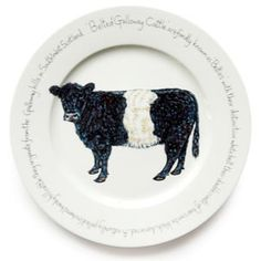 Jersey Pottery Farmyard Belted Galloway Presentation Plate