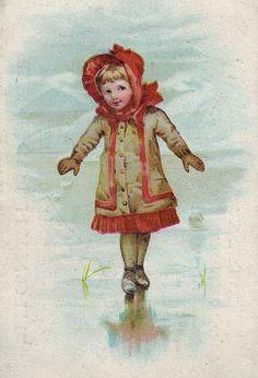 chromo p t ter linden amsterdam de kophandel girl on ice skates | par patrick.marks