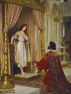 Edmund Leighton-The King and the Beggar-maid.jp