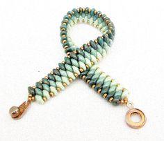 Jade superduo kralen armband ombre armband van beadnurse op Etsy