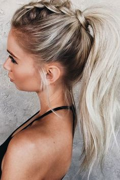 2018 wedding hair trends_pony tail with braids