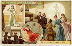 "The ""Tele-theatre"" of 2000 (1900) - by Chocolate German chocolate company ""Hildebrands"""