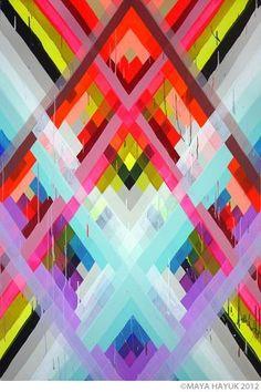 Patrones en bloques de color