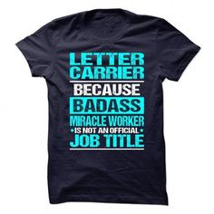 Awesome Shirt for ** LETTER-CARRIER ** T Shirts, Hoodies Sweatshirts. Check…