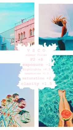 Discover recipes, home ideas, style inspiration and other ideas to try. Vsco Filters Summer, Best Vsco Filters, Vsco Filter Bright, Instagram Themes Vsco, Fotografia Vsco, Photography Filters, Photography Tips, Vsco Themes, Filters For Pictures