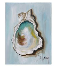 adore this oyster shell art