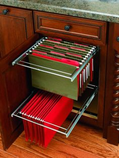 Rev-A-Shelf RAS-FD-KIT RAS-FD Series 15 Inch Base Cabinet Office Pull Out File D Chrome Office Cabinet Organizers File Drawer Organizers Office