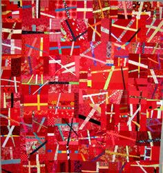 (via nifty quilts: Red! Quilt Inspiration, Cross Quilt, Quilting Designs, Quilting Ideas, Modern Quilting, Art Quilting, Quilt Art, Quilting Projects, Sewing Projects