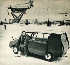Maxi, soviet prototype minicar for everyday use. In: Autó-Motor 1968.I.21.