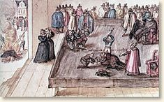 A depiction by an unknown Dutch artist of the execution of Mary Stuart, Queen of Scots, and the subsequent destruction of her personal items (left). Mary Queen Of Scots, Queen Mary, Queen Elizabeth, Dinastia Tudor, Tudor Rose, Mary Stuart, Tudor History, British History, History Photos