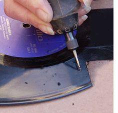 Using a Dremel to cut vinyl LPs