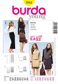 BD7015 Misses' Skirt | Very Easy/21 1/2 inches.